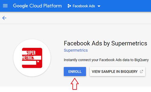 Enroll Facebook Ads by Supermetrics connector