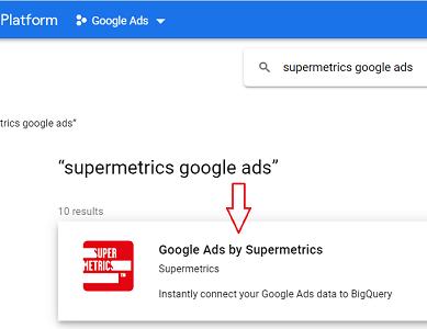 Google Ads by Supermetrics connector