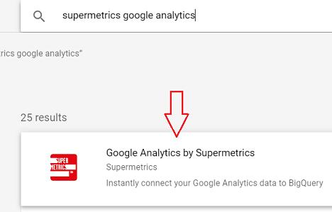 Google Analytics by Supermetrics connector
