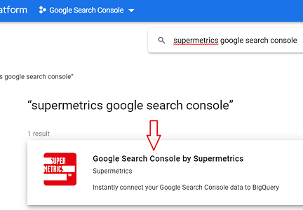 Google Search Console by Supermetrics connector