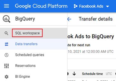 SQL workspace 1
