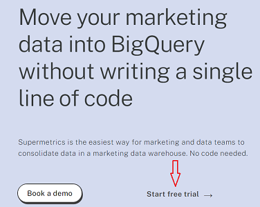 Start a free trial bigquery connector
