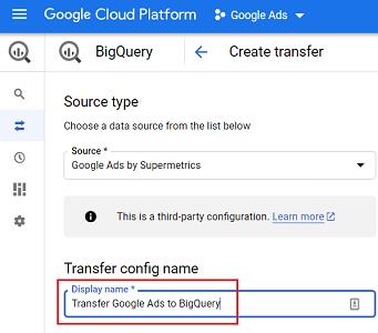 Transfer config name 1