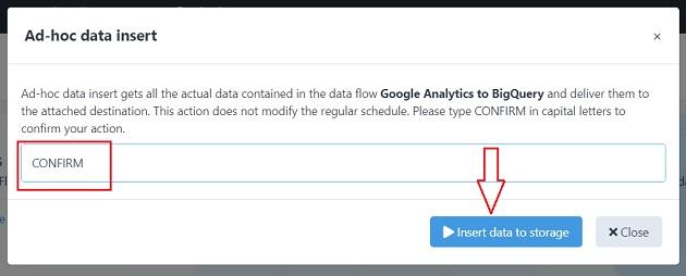 ad hoc data insert