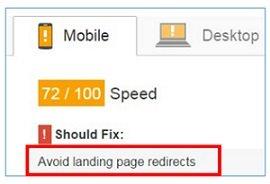avoid landing page redirect 1