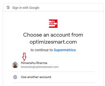 choose an account 1