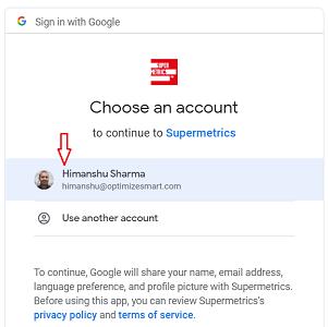 choose an account 2