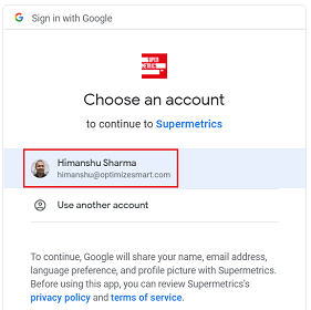 choose an account to continue 1