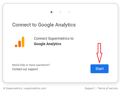 connect supermetrics to google analytics