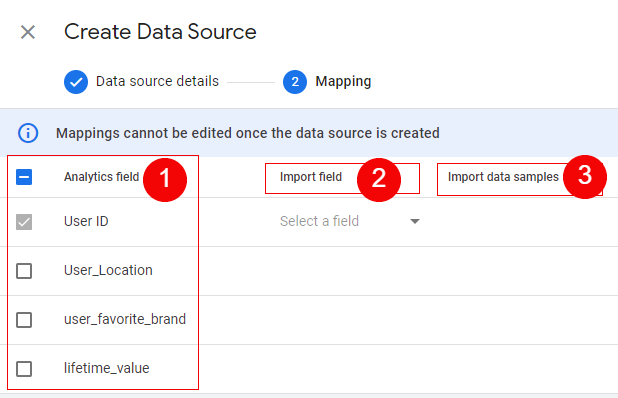 data source mapping