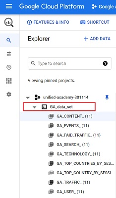 dataset that contain the backfilled Google Analytics data