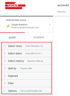 entire Query Manager set up