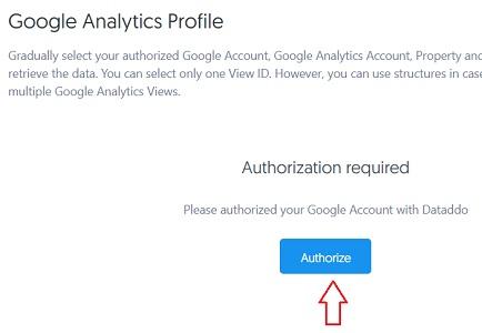 google analytics profile authorize