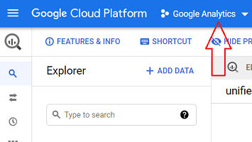 google analytics project bigquery 1