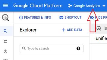 google analytics project bigquery