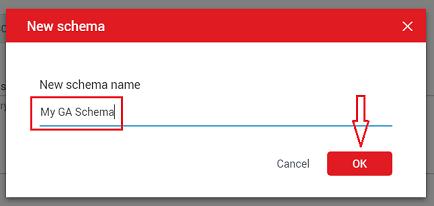 new schema name