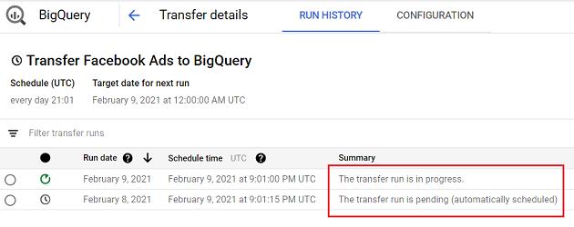 the transfer run is in progress 1