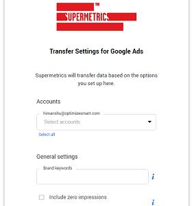 transfer settings for google ads