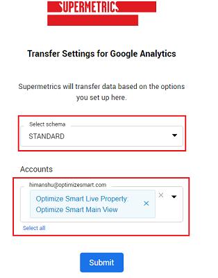 transfer settings for google analytics 1
