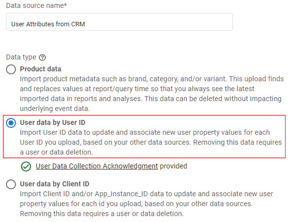 user data by user id
