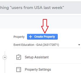 Create Property GA4