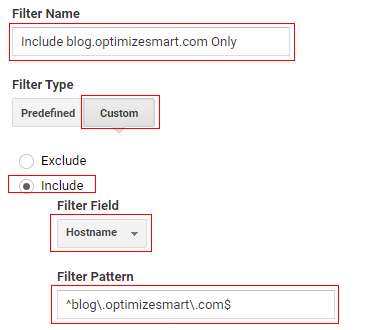 Include Specific Domain or Hostname
