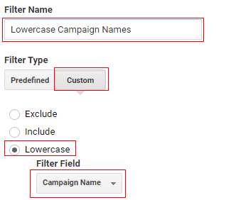 Lowercase Campaign Names