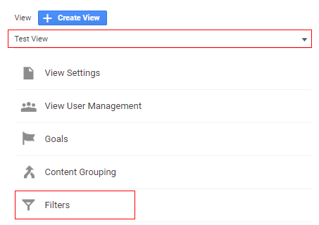 Select View and click on filter