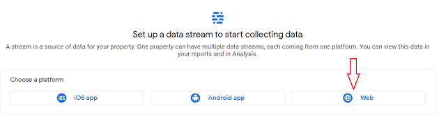 Web data stream ga4