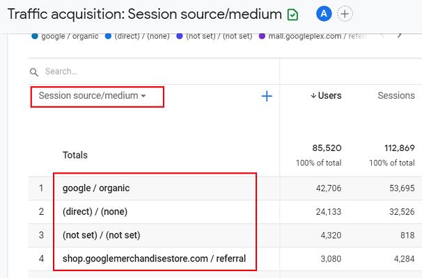 dimensions in ga4 google analytics 4