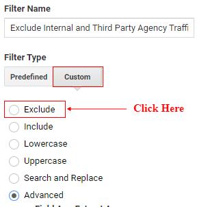 select custom and radio button