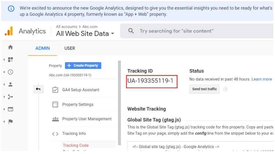 tracking id