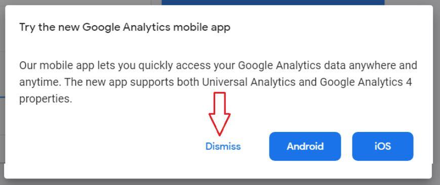 try mobile app dismiss