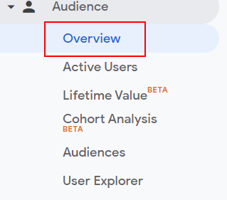 Audience overivew reports