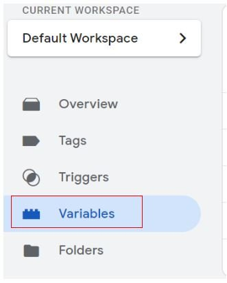 Click on the 'Variables tab
