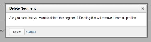 Delete conversion segment confirmation