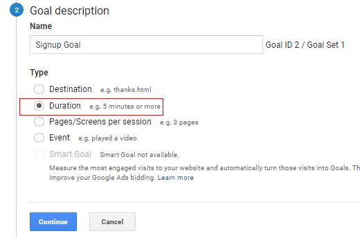 Duration Goal
