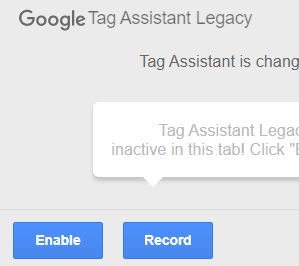 Enable Tag Assistant