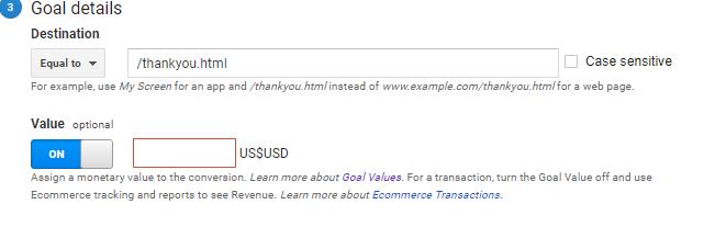 Goal Value