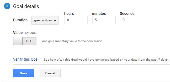 Goals timing