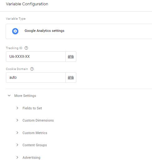Google analytics configuration