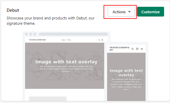 Shopify Actions