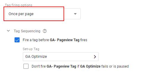 Tag Firing Option