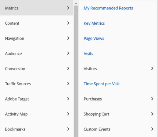 adobe reporting interface