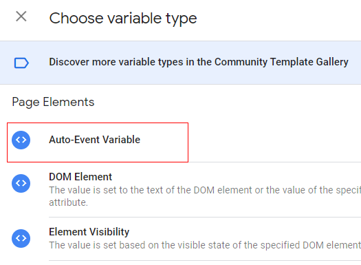 auto event variable
