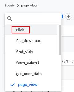 click event ga4