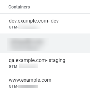 container environment