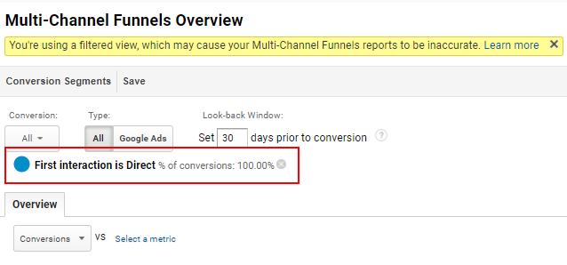 conversion segment applied
