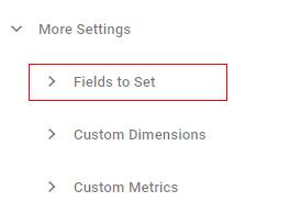 fields to set