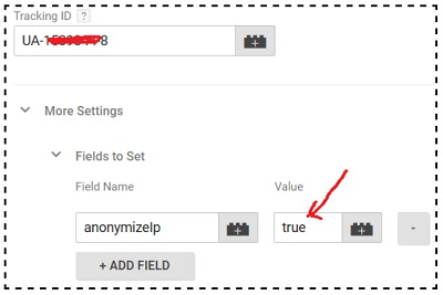 gtm tutorial Anonymize IP